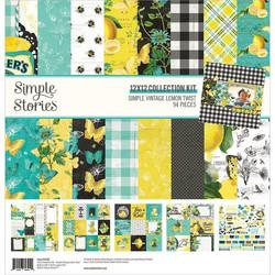 Simple Stories Simple Vintage Lemon Twist -paperipakkaus, 12