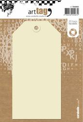 Carabelle Tags, 7 x 14 cm, 20 kpl