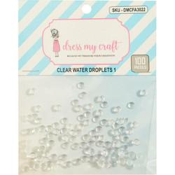 Dress My Craft koristeet Clear Water Droplets, 4 mm