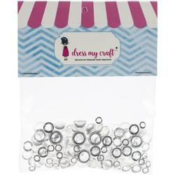 Dress My Craft koristeet Clear Water Droplets, 4, 6 ja 8 mm