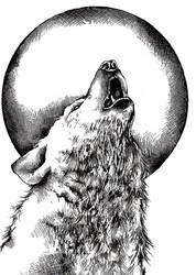 Crafty Individuals leimasin Howling Wolf