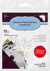 Scrapbook Adhesives Creative Photo Corners Mix -valokuvakulmat