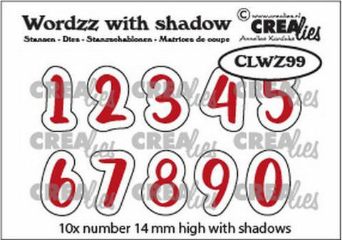 Crealies stanssisetti Numbers