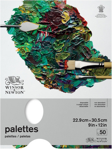 Winsor & Newton Tear Off Palette -paperipakkaus, 9