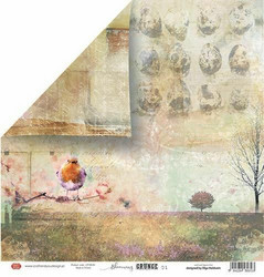Craft & You skräppipaperi Blooming Grunge