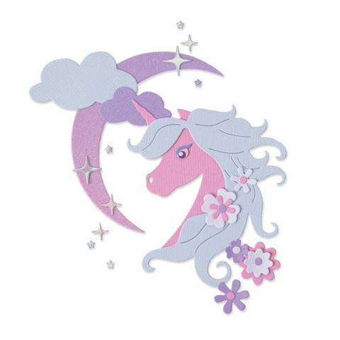 Sizzix Thinlits stanssisetti Midnight Unicorn