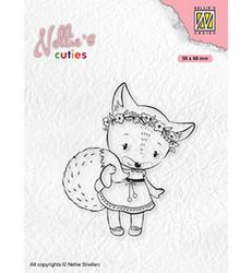 Nellie's Choice Cuties leimasin Foxy Christmas Lady