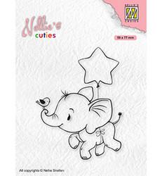Nellie's Choice Cuties leimasin Elephant With Star