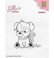 Nellie's Choice Cuties leimasin Dog With Christmas Bow