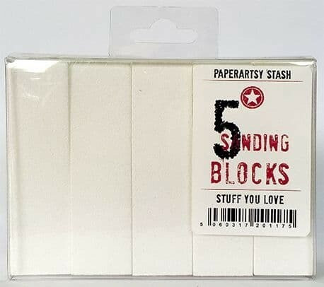 PaperArtsy Sanding Block -hiontapala, 5 kpl