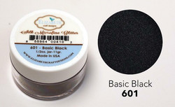 Elizabeth Craft Silk Microfine Glitter - jauhe sävy Basic Black