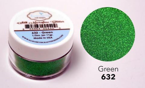 Elizabeth Craft Silk Microfine Glitter - jauhe sävy Green