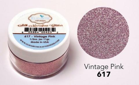Elizabeth Craft Silk Microfine Glitter -jauhe sävy Vintage Pink