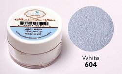 Elizabeth Craft Silk Microfine Glitter -jauhe sävy White