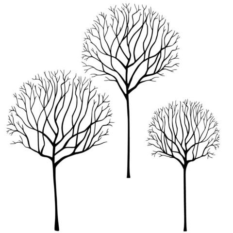 Lavinia Stamps leimasin Skeleton Tree Scene
