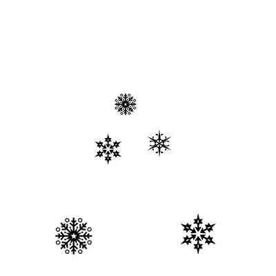 Lavinia Stamps leimasin Snowflakes