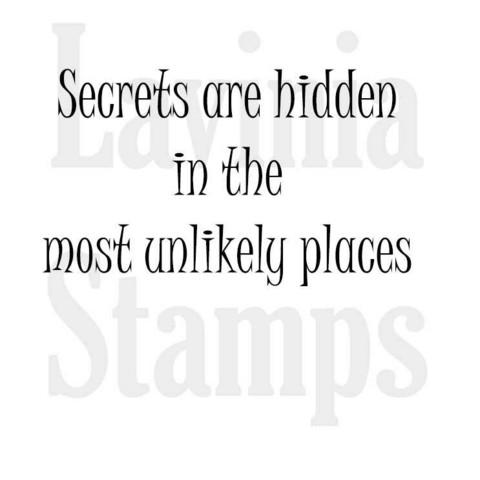 Lavinia Stamps leimasin Secrets are Hidden