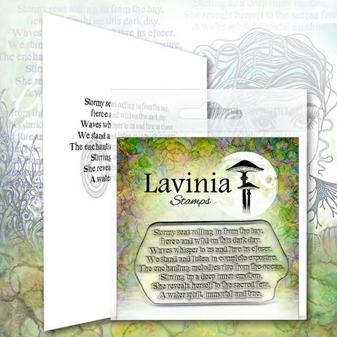 Lavinia Stamps leimasin Water Spirit Verse