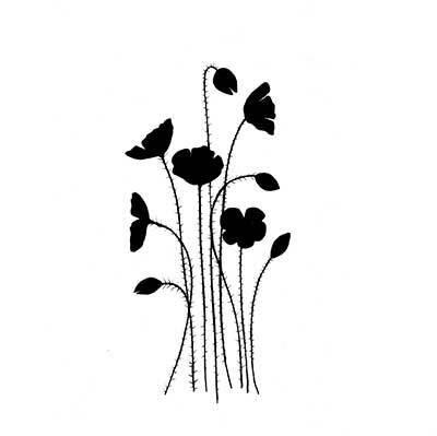 Lavinia Stamps leimasin Wild Poppies