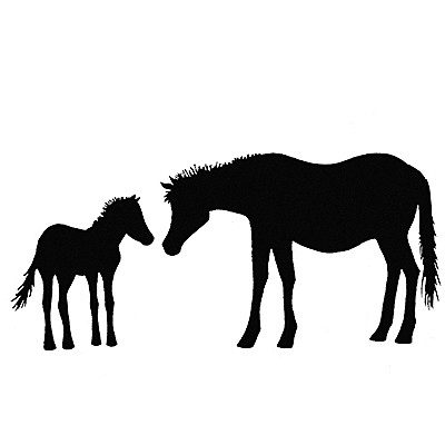 Lavinia Stamps leimasin Horse and Foal