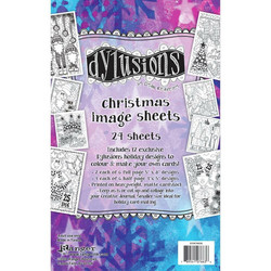 Dyan Reaveley's Dylusions Christmas Image Sheets, väritysarkit