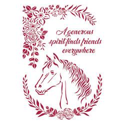 Stamperia sapluuna Romantic Horses, Horse with Flowers, A4