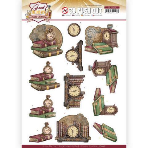 Yvonne Creations Good Old Days 3D-kuvat Clock
