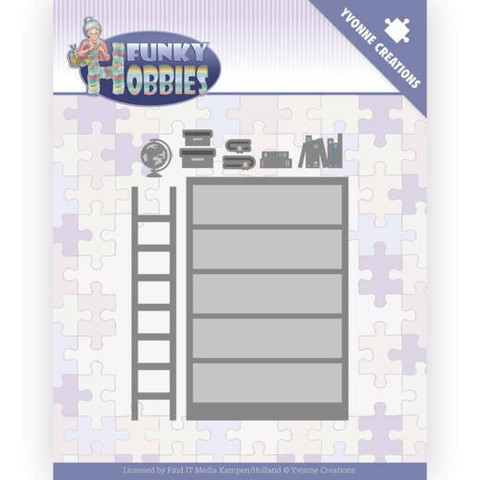 Yvonne Creations Funky Hobbies stanssi Bookcase