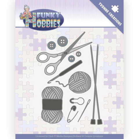 Yvonne Creations Funky Hobbies stanssi Knitting