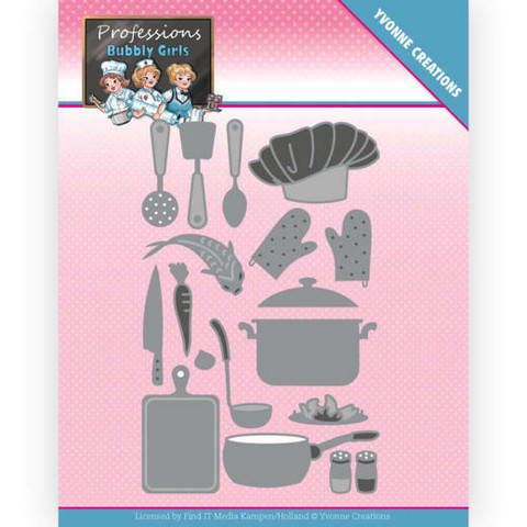 Yvonne Creations Bubbly Girls Professions stanssi Kitchen Staff