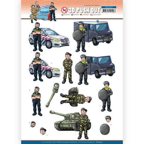 Yvonne Creations Big Guys Professions 3D-kuvat Police