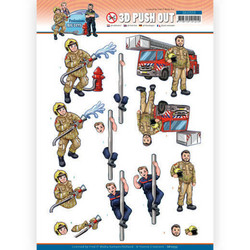 Yvonne Creations Big Guys Professions 3D-kuvat Fire Department