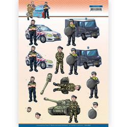 Yvonne Creations Big Guys Professions 3D-kuvat Police, leikattava