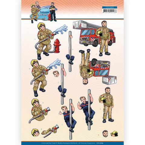 Yvonne Creations Big Guys Professions 3D-kuvat Fire Department, leikattava