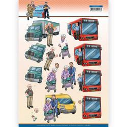 Yvonne Creations Big Guys Professions 3D-kuvat Bus Driver, leikattava