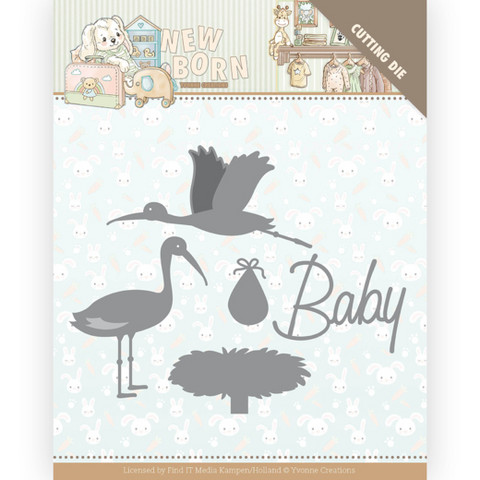 Yvonne Creations New Born stanssi Stork