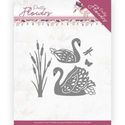 Precious Marieke Pretty Flowers stanssi Pretty Swans