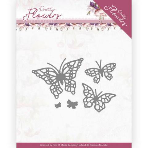 Precious Marieke Pretty Flowers stanssi Pretty Butterflies