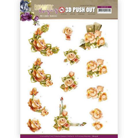 Precious Marieke Romantic Roses 3D-kuvat Orange Rose