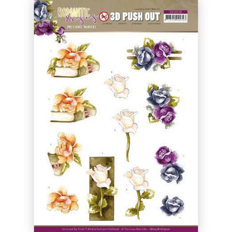 Precious Marieke Romantic Roses 3D-kuvat Multicolor Rose