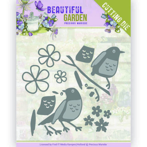 Precious Marieke Beautiful Garden stanssi Birds