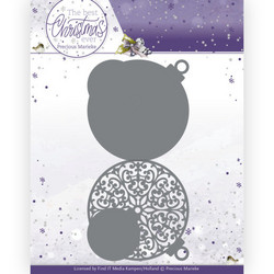 Precious Marieke The Best Christmas Ever stanssi Christmas Bauble Shape Card