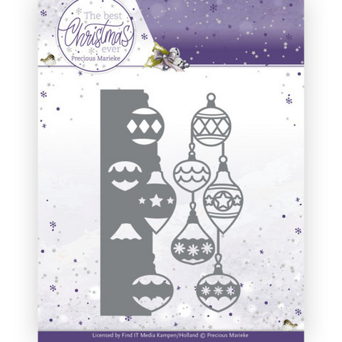 Precious Marieke The Best Christmas Ever stanssi Christmas Bauble Border