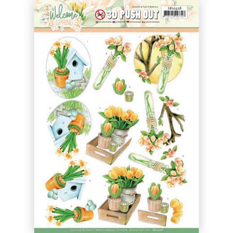 Jeanine's Art Welcome Spring 3D-kuvat Orange Tulips