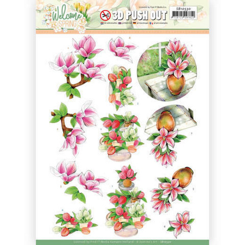 Jeanine's Art Welcome Spring 3D-kuvat Pink Magnolia