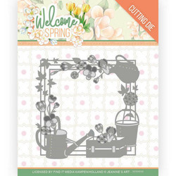 Jeanines Art Welcome Spring stanssi Spring Frame