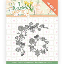Jeanines Art Welcome Spring stanssi Spring Garland