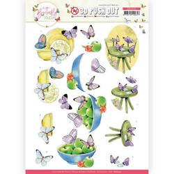 Jeanine's Art Butterfly Touch 3D-kuvat Purple Butterfly