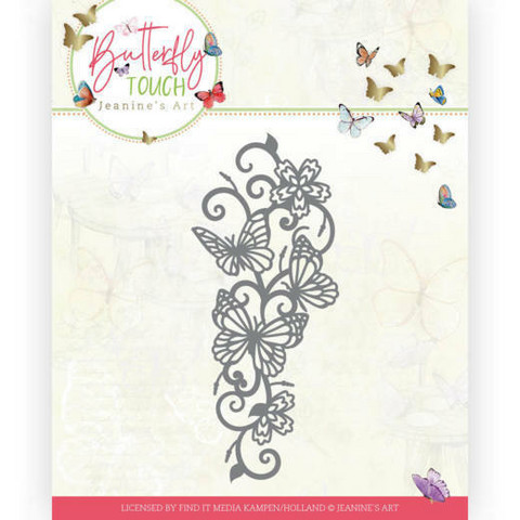 Jeanines Art Butterfly Touch stanssi Butterfly Border