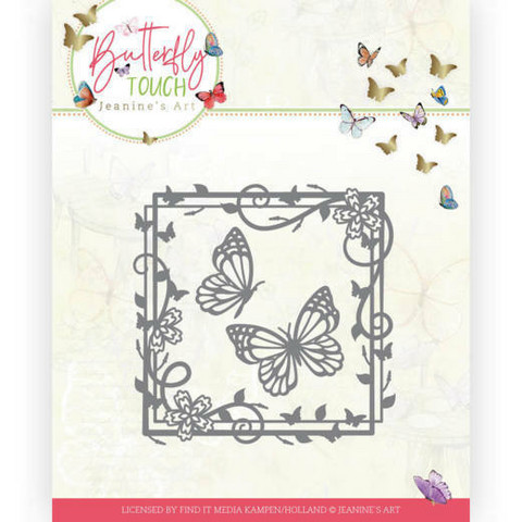 Jeanines Art Butterfly Touch stanssi Butterfly Square